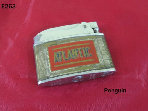 Vintage ATLANTIC IMPERIAL Motor Oil PENGUIN Lighter JAPAN