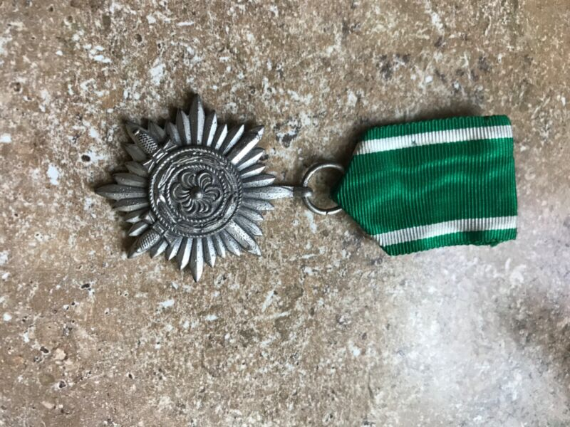 WWII German Eastern People Medal 2nd Class With Swords Silver Ostvolk Marked 100