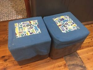 Ottomans / stools w covers Ryde Ryde Area Preview