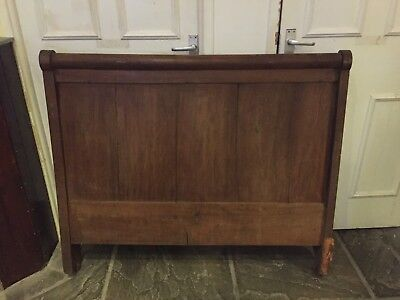 Antique French Oak Empire 3/4  Day Bed Headboard And Bed FootEnd Only