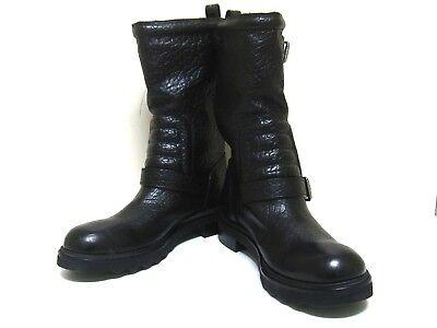 Auth LOUIS VUITTON Black Leather FD0174 Pecos Men