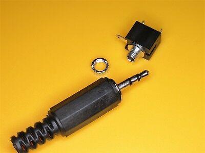 2,5 Mm Klinke (AUX 2,5 ,Klinkenbuchse, Einbaubuchse Audio Mono, Klinke 2,5mm, 3 Pin, + Stecker )