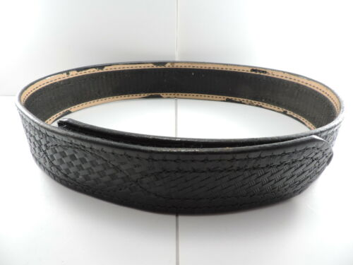 "Unmarked Basketweave Hook & Loop 2.25"" Duty Belt Marked 32 Adj 30.5"" to 35.5"""