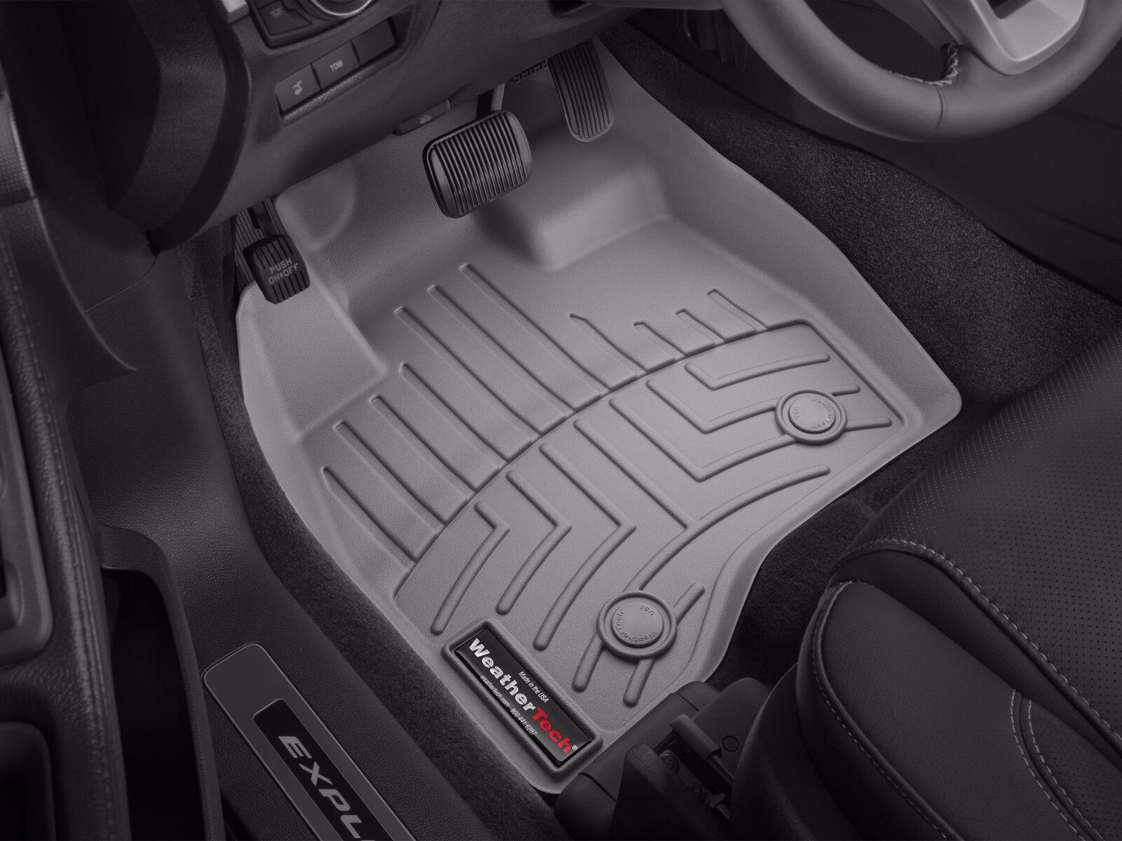 Weathertech floorliner for ford explorer w 2nd row console 2017 grey