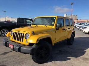 2015 Jeep WRANGLER UNLIMITED SAHARA**X PACKAGE**NAVIGATION**BLUE