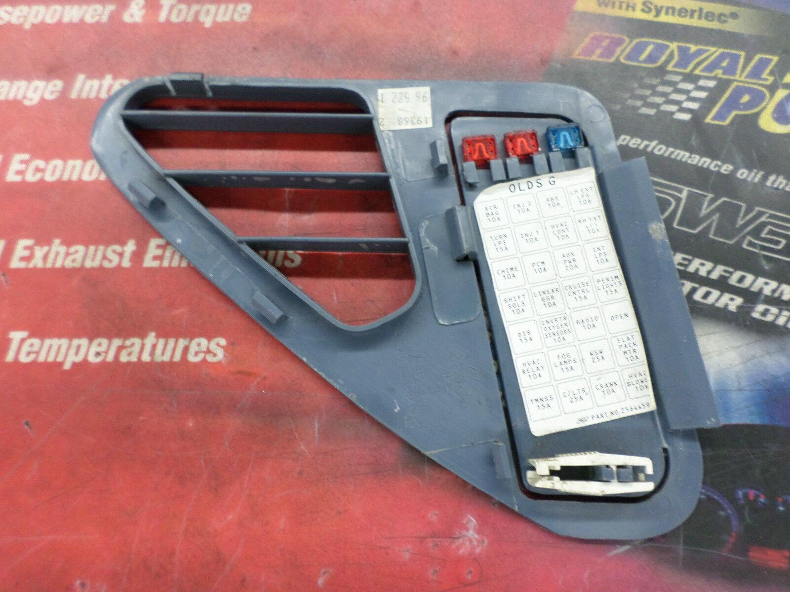 [ZHKZ_3066]  1995-1999 Oldsmobile Aurora OEM interior fuse box lid p/n# 25603675   eBay   1999 Oldsmobile Aurora Fuse Box      eBay