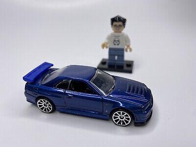 Hot Wheels 2010 Nissan Skyline GT-R R34 JDM Import Blue Die Cast Rare HTF New