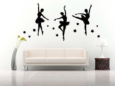 Wall Room Decor Art Vinyl Sticker Mural Decal Ballet Dance Women Ballerina FI331