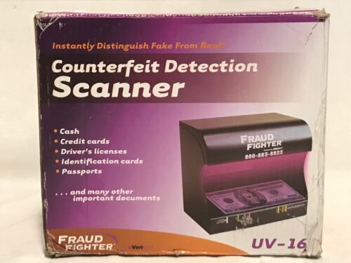 UVeritech Fraud Fighter Counterfeit Detection Scanner UV-16 NEW FAST SHIPPING