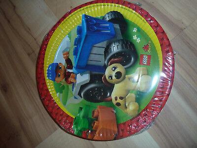 LEGO DUPLO Bauernhof - Kindergeburtstag - Pappteller (8 St.) - NEU & OVP
