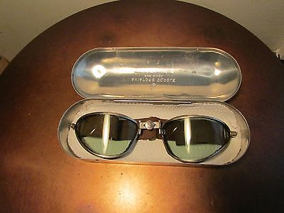 Vintage WWII American Optical Aviator Goggles, Motorcycle, Original not Copy
