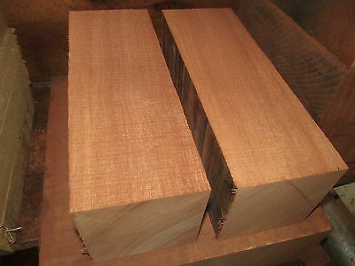 TWO (2) KILN DRIED EXOTIC AFRICAN MAHOGANY TURNING LUMBER WOOD LATHE 4 X 4 X 11