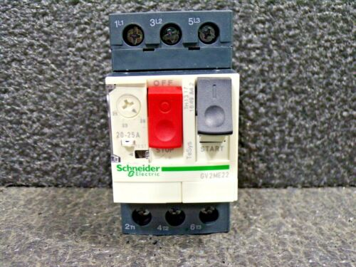 SCHNEIDER ELECTRIC GV2-ME22 Push Button Manual Motor Starter, No Enclosure