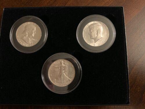 Silver Half Dollar Set (1944 Walking Liberty, 1963 Franklin, 1964 Kennedy) BU