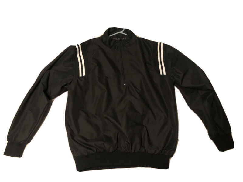Smitty Traditional Half-Zip Umpire Jacket - Black and White