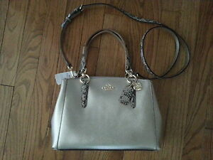 Brand new Coach leather shoulder handbag