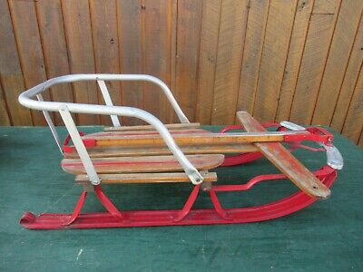 Sleds Snow Tubes Sled With Metal Runners