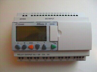 Crouzet Millenium 3 Xd26 88970161 Plc Controller Lcd Display 24 Vdc