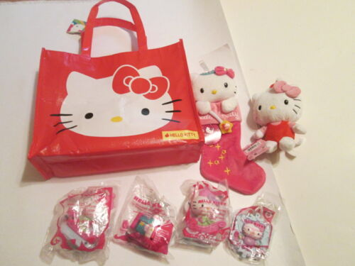 Hello Kitty Lot Christmas Stocking Plush Happy Meal Toys New in Package Tags