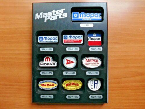 Mopar Parts Logo Plaque - Mopar Master Parts Award Plaque 1933 - 1999