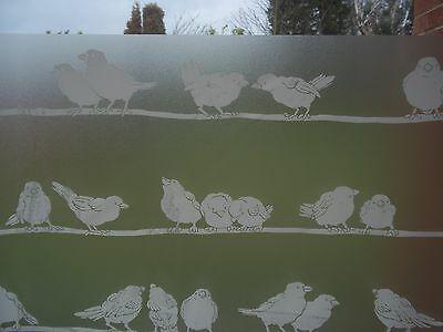 1.5 Mtr DC FIX STATIC CLING BIRDS PRIVACY FROSTED GLASS WINDOW EFFECT VINYL FILM