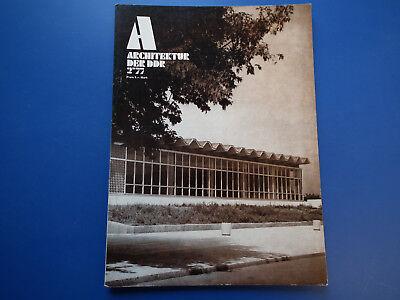 DDR Zeitschrift-Architektur der DDR Heft -2/1977-Erfurt-Weimar-Zwickau-Berlin-