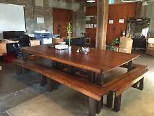 Large Dinner / Boardroom / Meeting Table with 8 Matching Benches Stanmore Marrickville Area Preview