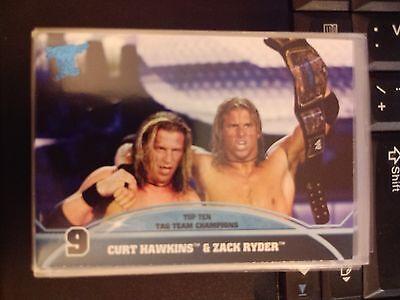 2013 Topps Best of WWE Top Ten Tag Team Champions #9 Curt Hawkins & Zack
