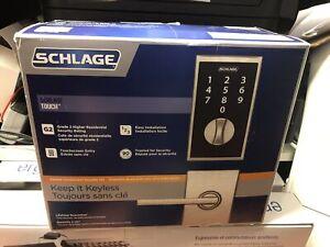 Schlage touch screen deadbolt lock security new