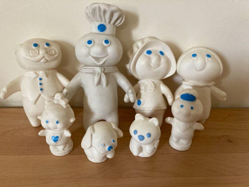 Pillsbury Doughboy Doll Figure Family 8 Piece Set
