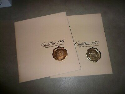 1978 Cadillac Sales Brochure - Vintage - Two for One Price