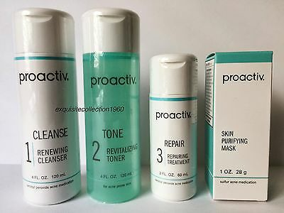 Proactiv 60 Day 4pc Kit Proactive 3-Step System+Purifying Mask- Exp. 2018/2019!