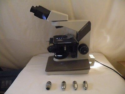 Nikon Labophot 2 Microscope Phase Contrast - 2  4 Objectives No Eyepieces