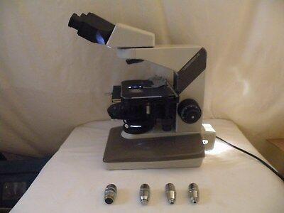Nikon Labophot 2 Microscope Phase Contrast - 2  4 Objectives No Eyepieces
