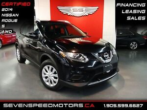 2014 Nissan Rogue S AWD 35KMSONLY|CERTIFIED|MANUFACTURER WARRANT