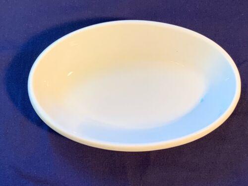 "Vintage Buffalo China 0403M Small White Oval Dish 6-1/2"" - Farmhouse Soap Dish"