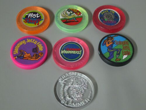 Vintage  Assortment of 7 Plastic Slammers Lot # 4