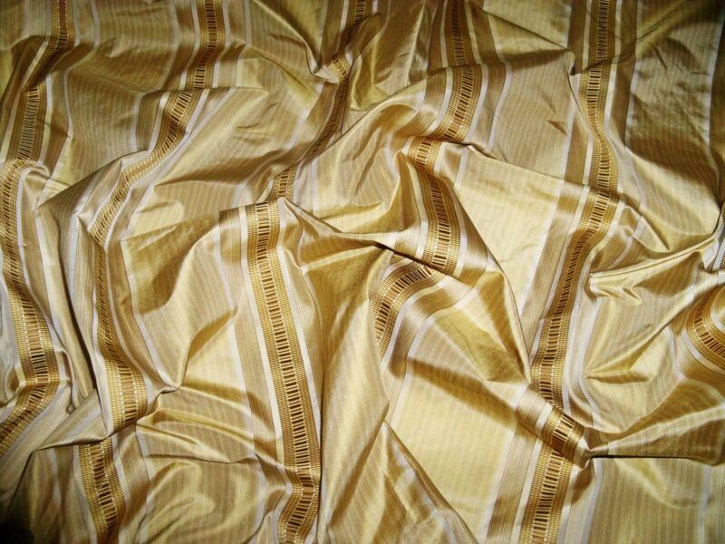 KRAVET COUTURE SATIN STRIPES SILK FABRIC 48 YARD BOLT HONEY GOLD AMBER