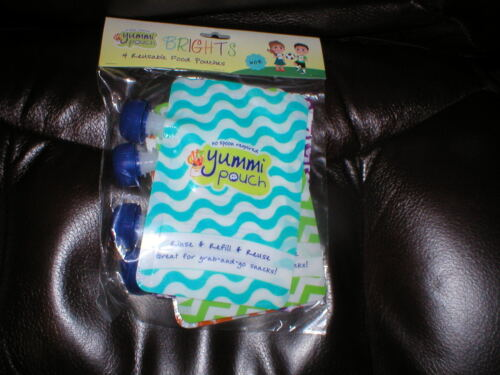 YUMMI BRIGHTS food pouches puree food NEW pk of 4