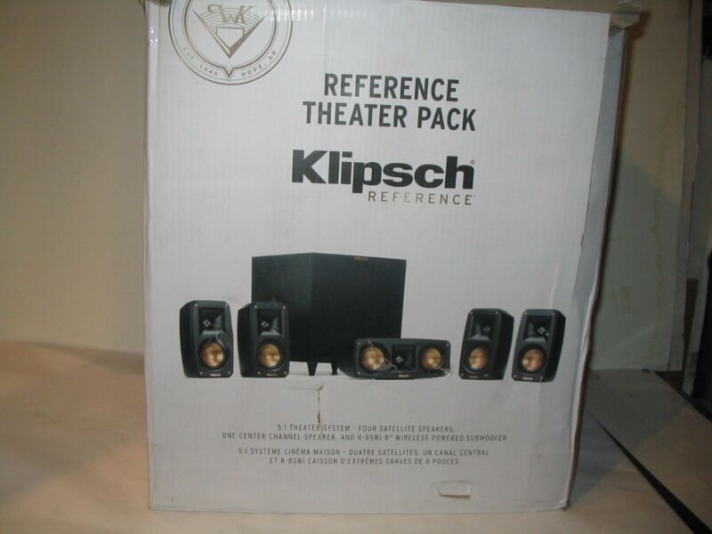 NEW Klipsch Reference Theater Pack 5.1 CH Surround System Speakers Subwoofer