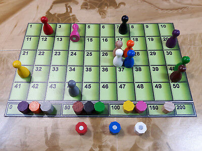 New Green Magnetic Scoring Track For Board   Card Games  Azul  Star Realms