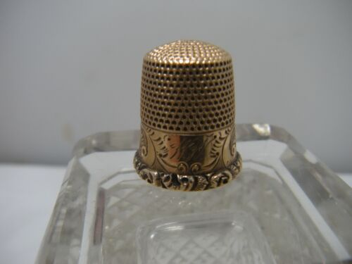 Antique 10K Rose Gold Sewing Thimble Ketcham & McDougall