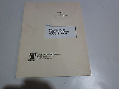 Telonic 3331 Fixed Marker Plug-in Unit Operation Service Manual R3-s35