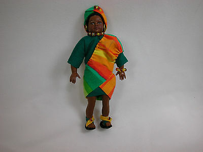 "Doll House Miniature Doll 4"" Heidi Ott Body Black Girl Teenager Kia #2206BBB"