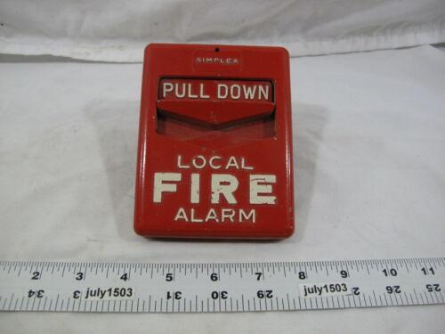 (1) Vintage Simplex 4251-111 Fire Alarm Pull Station (Y)