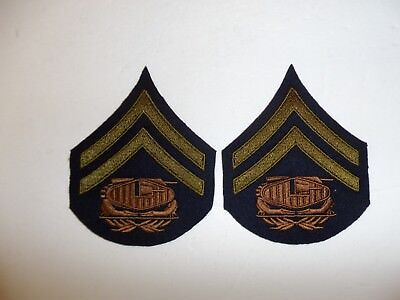 b0727p 1930's-WW2 US Army unofficial Tank Corps Corporal pair R1B