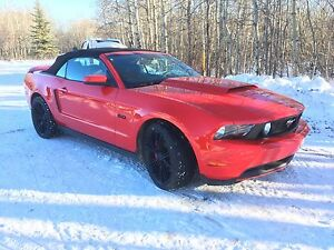 Red 5.0L V8 mustang convertible