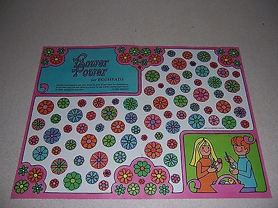 1969 VTG FLOWER POWER for EGGHEADS PAPER CUT OUT EGG DECORATIONS (Flower Power Decorations)