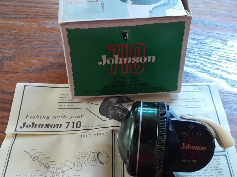 Vintage Johnson 710 Reel In Box With Insert