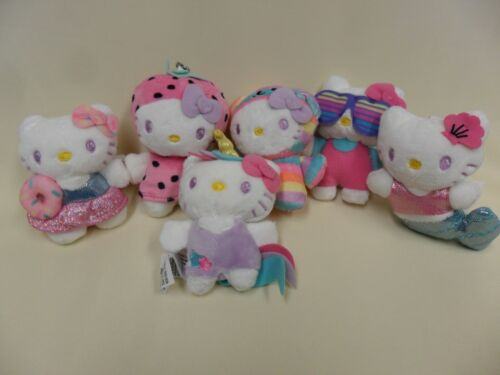 Gund NEW Hello Kitty SET of SIX Blind Box Mini Plush Mystery Opened